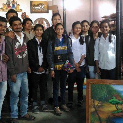 Nacc students visited to Kharbi Art work